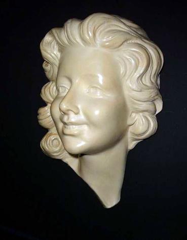 Beeld Vrouw Gezicht Art Deco Jaren 1920 1930 Gevonden Op