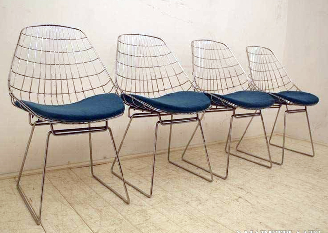 Design Pastoe Stoelen : 4 vintage draadstoelen retro design braakman tomado pastoe