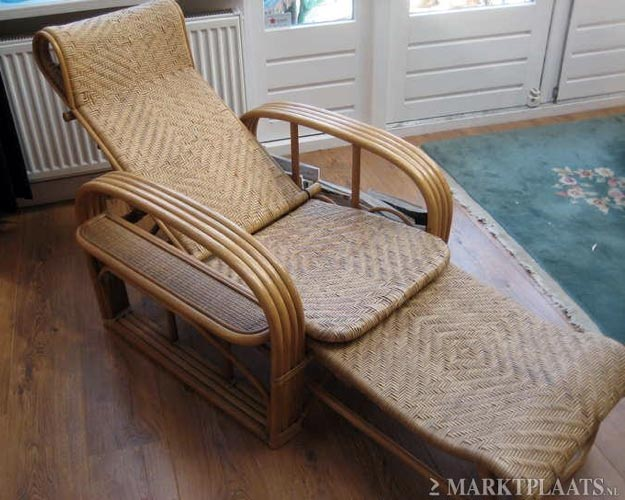 Rotan Lounge Stoel : Design vintage rotan lounge stoel gevonden op marktplaats